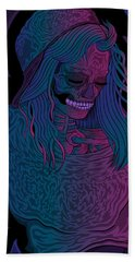 Good Vibes Skelegirl Hand Towel