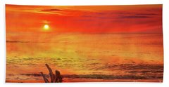 Hand Towel featuring the digital art Goodbye Day by Randy Steele
