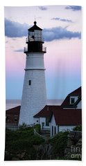 Bath Towel featuring the photograph Goodnight Moon, Goodnight Lighthouse  -98588 by John Bald