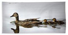 Goose And Goslings Bath Towel