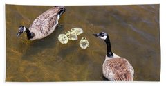 Goose  Gander And Goslings Bath Towel