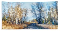 Hand Towel featuring the photograph Goose Lake Road by Theresa Tahara