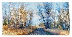 Goose Lake Road Hand Towel by Theresa Tahara