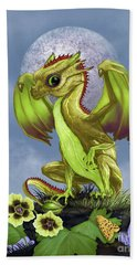 Hand Towel featuring the digital art Gooseberry Dragon by Stanley Morrison