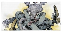 Gop Tied Up In A Knot Bath Towel