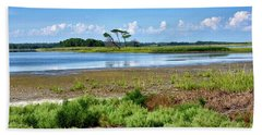 Gordons Pond At Cape Henlopen State Park - Delaware Bath Towel by Brendan Reals