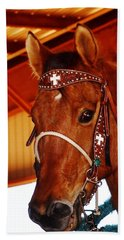 Gorgeous Horse And Bridle Hand Towel