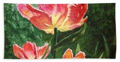 Gorgeous Tulip Garden By Irina Sztukowski Hand Towel