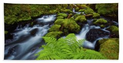 Hand Towel featuring the photograph Gorton Creek Fern by Darren White