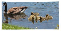 Goslings Gathering Bath Towel