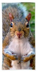 Bath Towel featuring the photograph Got Any Peanuts by Sue Melvin