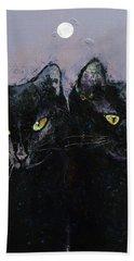 Gothic Cats Bath Towel