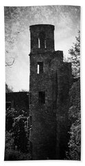 Gothic Tower At Blarney Castle Ireland Bath Towel