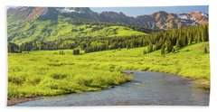 Bath Towel featuring the photograph Gothic Valley - Early Evening by Eric Glaser