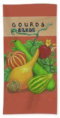 Gourd Seed Packet Orange Hand Towel