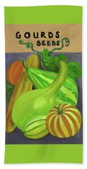 Gourd Seed Packet Purple Bath Towel