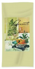 Gourmet Cover Featuring A Bowl Of Peaches Bath Towel