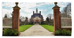 Governor's Palace In Williamsburg, Virginia Hand Towel
