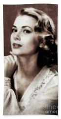 Grace Kelly, Actress, By Js Hand Towel