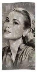Grace Kelly By Mary Bassett Hand Towel