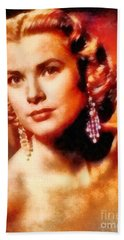 Grace Kelly, Vintage Hollywood Actress Hand Towel by Frank Falcon