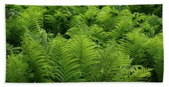 Graceful Ferns In More Than Fifty Shades Of Green Bath Towel