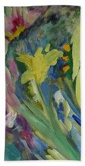 Graceful Swan Hand Towel by Denise Hoag