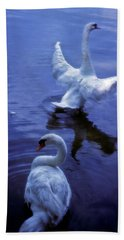 Graceful Swans Bath Towel by Marie Hicks