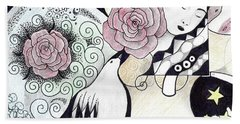 Gracefully - In Color Bath Towel by Helena Tiainen