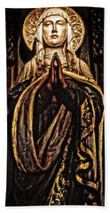 Hand Towel featuring the photograph Gracious Virgin Mary by Joan Reese