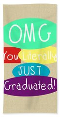 Graduation Card Hand Towel