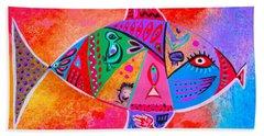 Graffiti Fish Hand Towel
