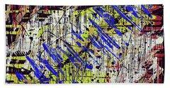 Graffitti Hand Towel by Cathy Beharriell