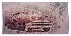 Hand Towel featuring the photograph Graffiti Merc by Joel Witmeyer