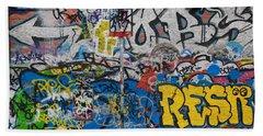 Grafitti On The U2 Wall, Windmill Lane Hand Towel