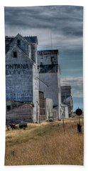 Grain Elevators, Wilsall Bath Towel