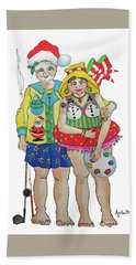Gram - Cracker And Papa Hand Towel by Rosemary Aubut
