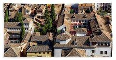 Granada Townscape Hand Towel by Anthony Dezenzio