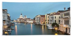 Grand Canal In Venice, Italy Hand Towel