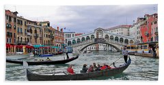 Grand Canal Scene  Hand Towel