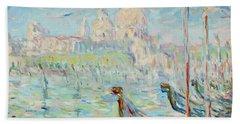 Grand Canal Venice Hand Towel by Pierre Van Dijk