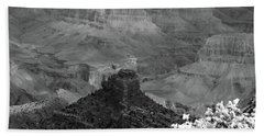 Hand Towel featuring the photograph Grand Canyon 4 In Black And White by Debby Pueschel