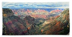 Hand Towel featuring the digital art Grand Canyon by Kai Saarto