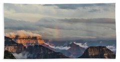 Grand Canyon Monsoon Rainbow Bath Towel