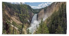 Grand Canyon Of Yellowstone Hand Towel by Alpha Wanderlust