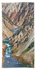 Grand Canyon Of Yellowstone Hand Towel