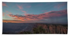 Grand Canyon Sunset 1943 Hand Towel