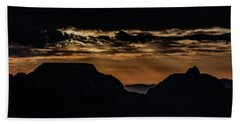 Hand Towel featuring the photograph Grand Canyon Sunset by Phil Abrams