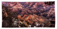 Grand Canyon Winter Sunrise Landscape At Yaki Point Bath Towel