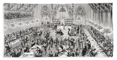 Grand Ceremonial Banquet At The French Bath Towel
